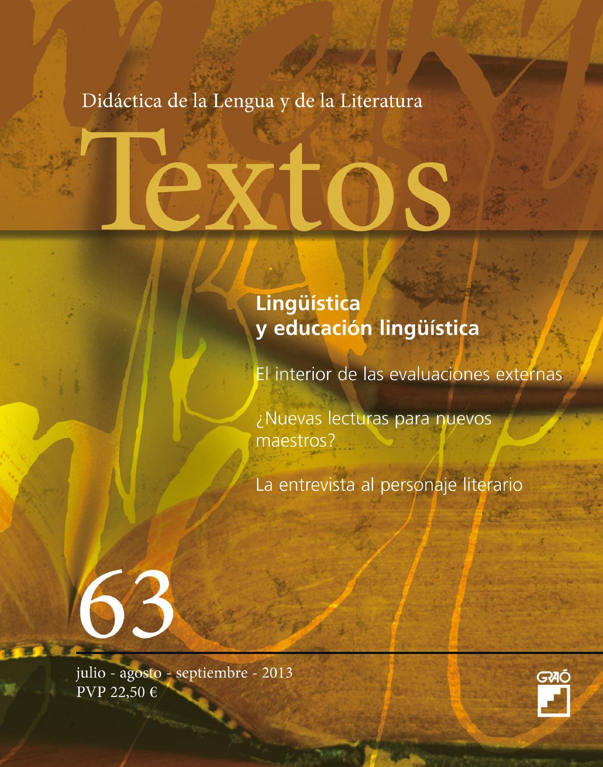 Textos. Didáctica de la Lengua y de la Literatura by Editorial Graó ...
