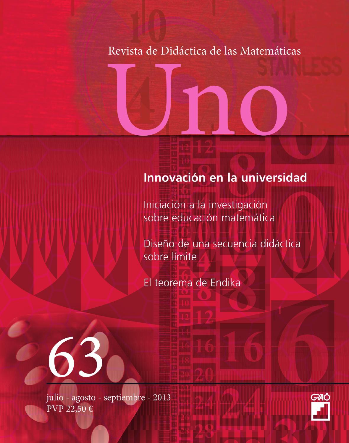 Uno. Revista de Didáctica de las Matemáticas by Editorial Graó - issuu