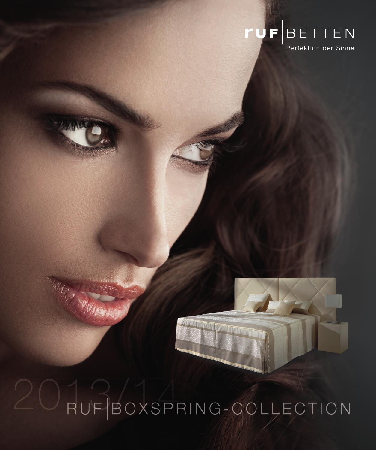 Ruf Betten Boxspring Collection 2013 14 By Trio Group Issuu