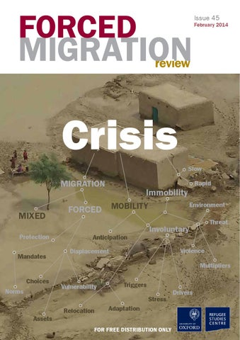 Crisis Forced Migration Review 45 By School Of Foreign Service