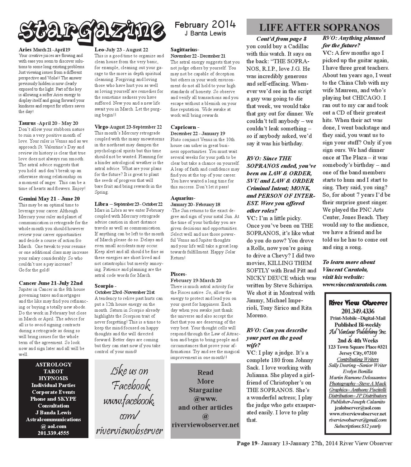 February 10 to february 27, 2014 river view observer by Ad