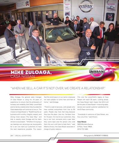 Mike Zuloaga, Casa Nissan. U201c