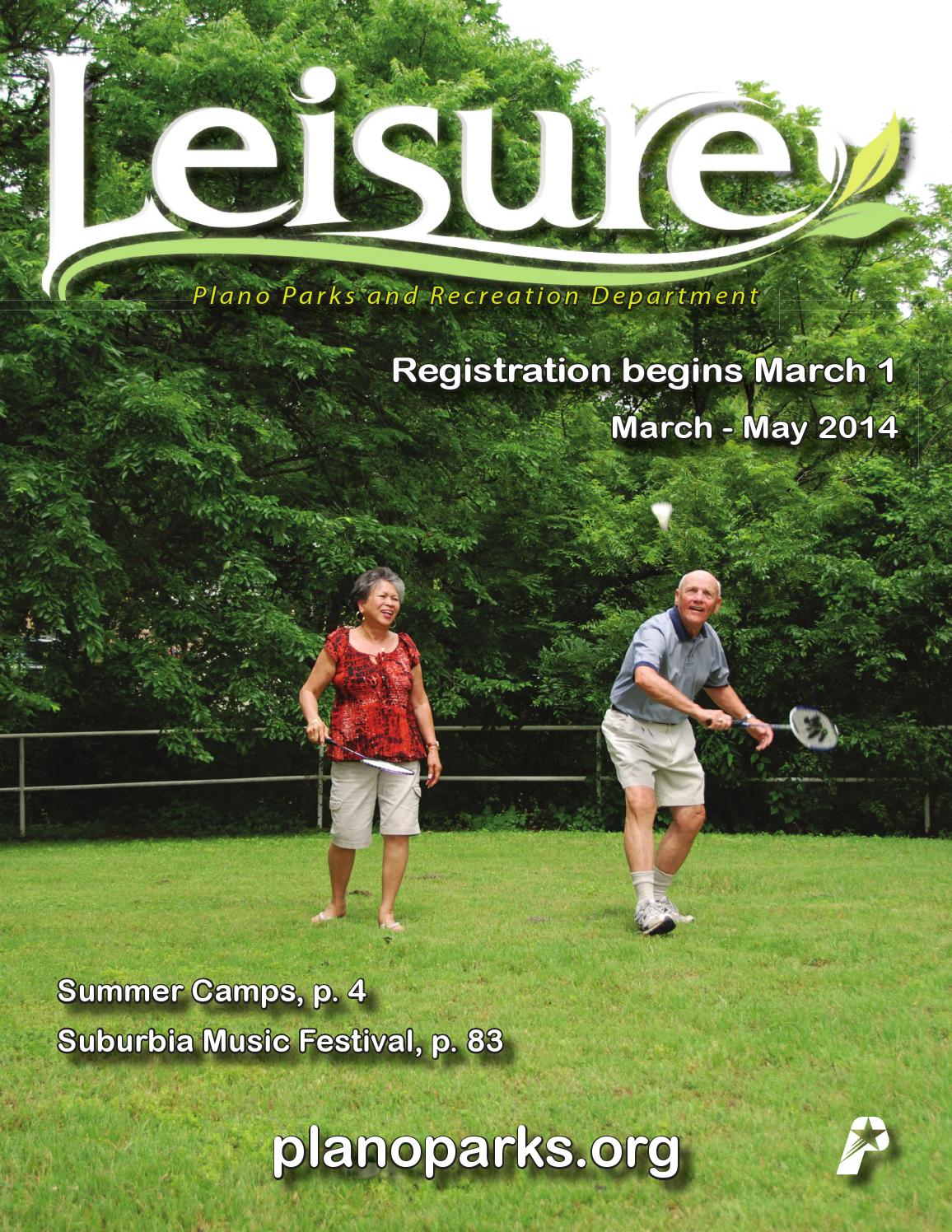 Plano Parks and Recreation Spring 2014 Leisure Catalog by Plano Parks and  Recreation - issuu