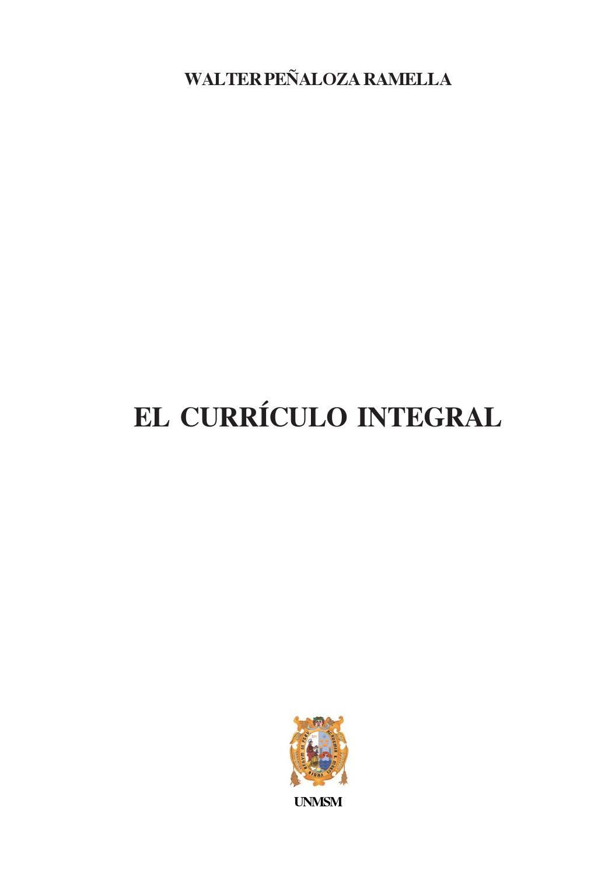 Walter peñaloza el curriculum integral libro2 by Oscar Dario Rivera ...