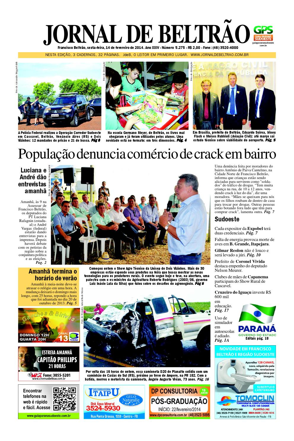 Jornaldebeltrão 5275 2014 02 14 by Orangotoe - issuu 2ca13d9acee88