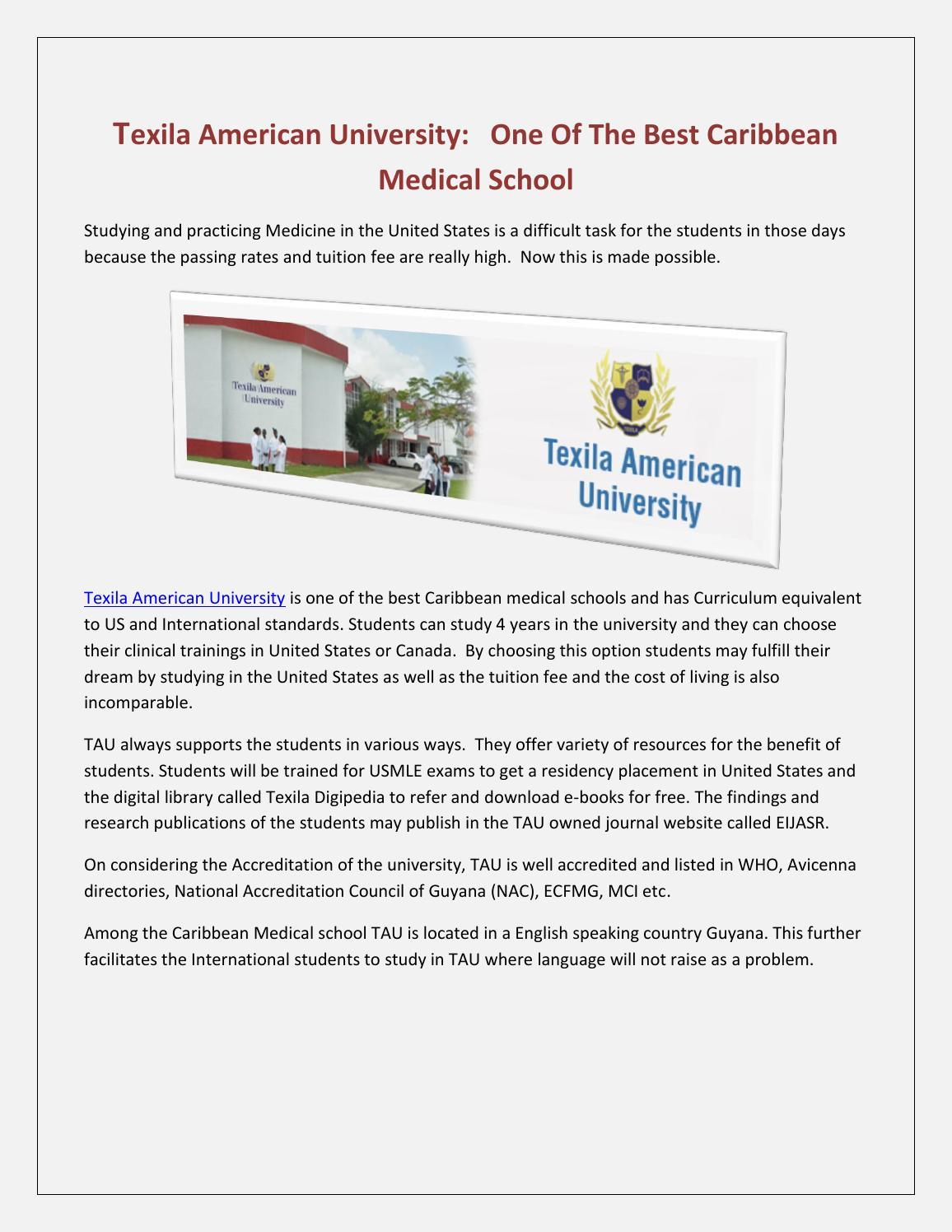 Texila american university best caribbean medical school by petermikecarmed  - issuu