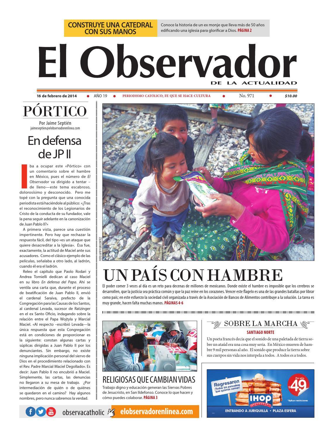 971 El Observador De La Actualidad By El Observador De La  # Muebles Mezquitic Saltillo
