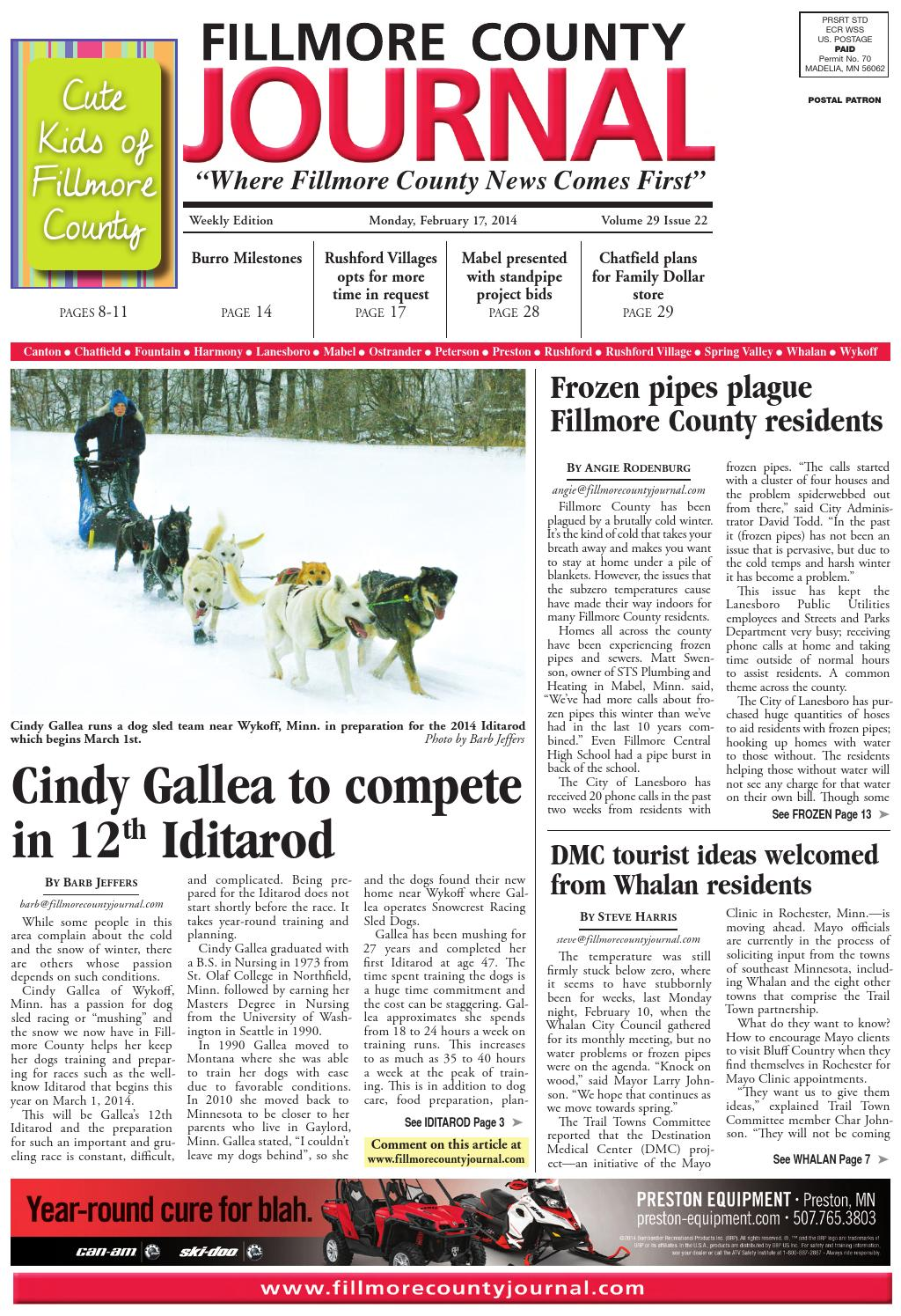 Fillmore County Journal 2 17 14 by Jason Sethre - issuu