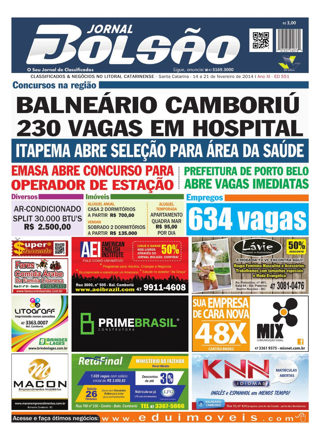 70e2182994 Ed 551 by Bolsão Jornal - issuu