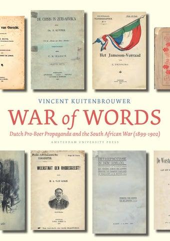 War Of Words Dutch Pro Boer Propaganda And The South African War