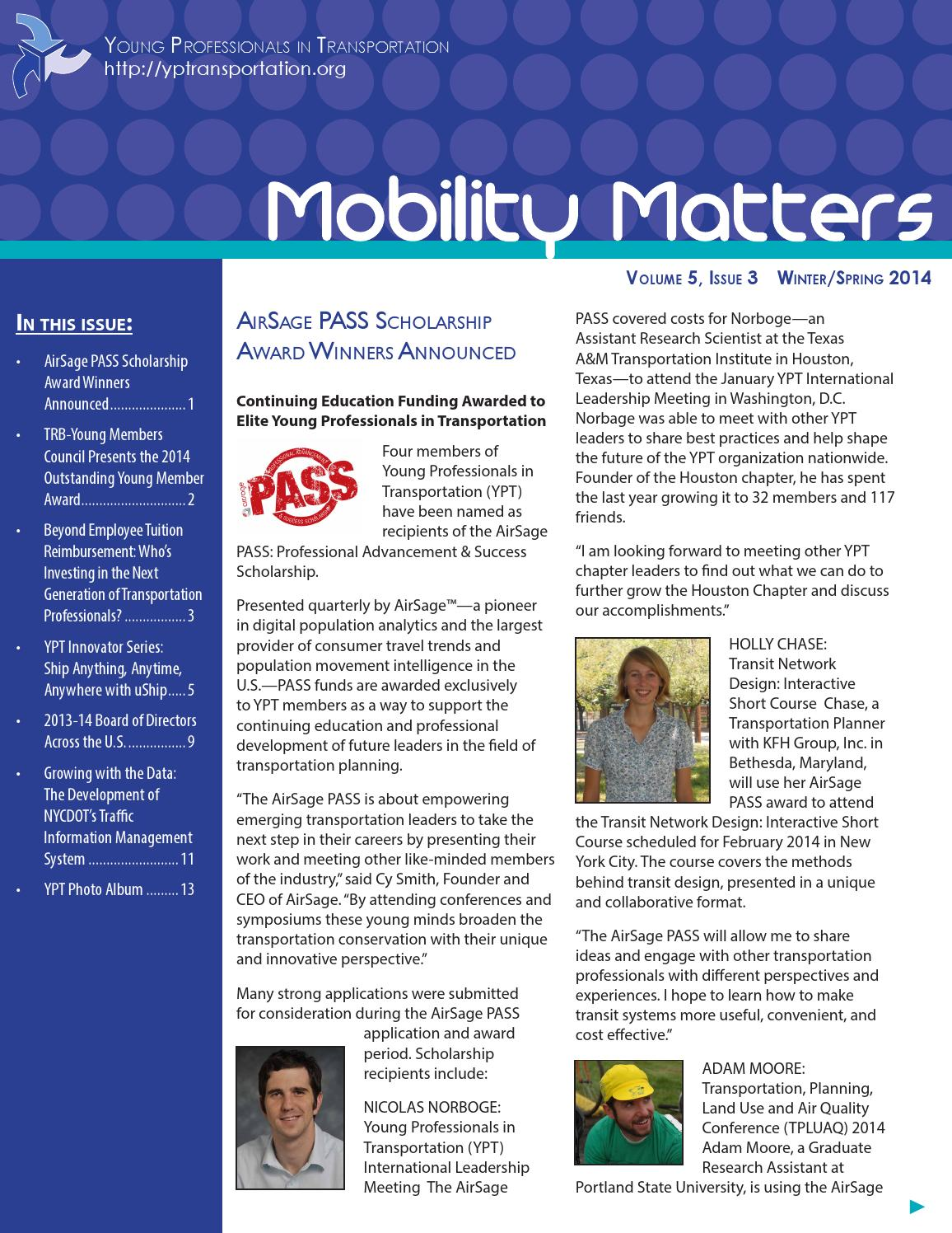 YPT Mobility Matters Winter/Spring 2014 by YP Transportation