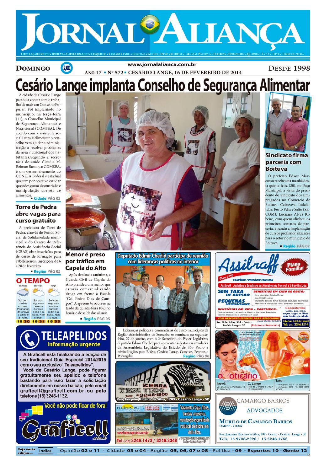 53d972322af67 Edição - 572 by Jornal Aliança - issuu
