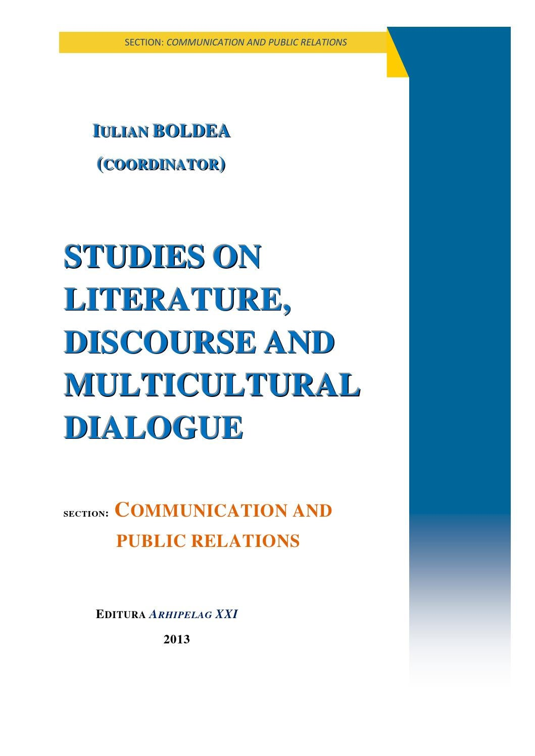 Iulian Boldea (coordinator), Studies on Literature