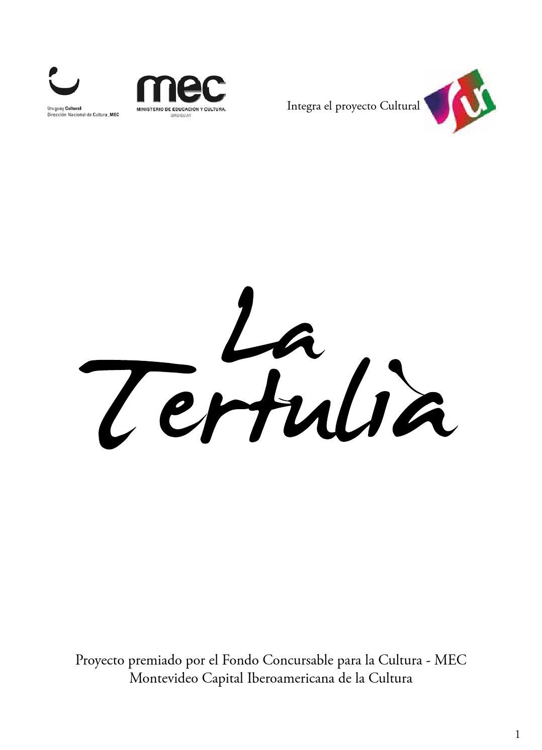Original libro tertulia 2013 - Numero 8 by Julia Galemire - issuu