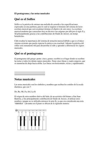 El Pentagrama Y Las Notas Musicales By Eduardo Montaño Issuu