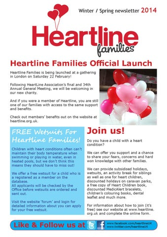 Heartline Families Magazine Winter / Spring 2014