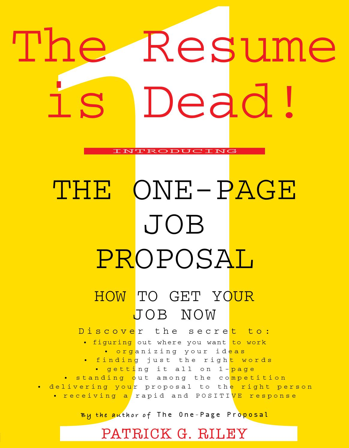 the one page job proposal by mukil elango issuu