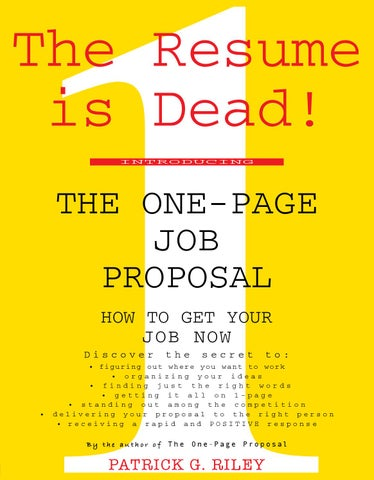 The one page job proposal by mukil elango issuu page 1 thecheapjerseys Image collections