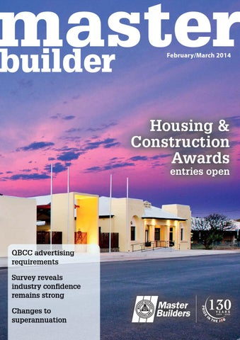 Mb Magazine February March 2014 By Master Builders