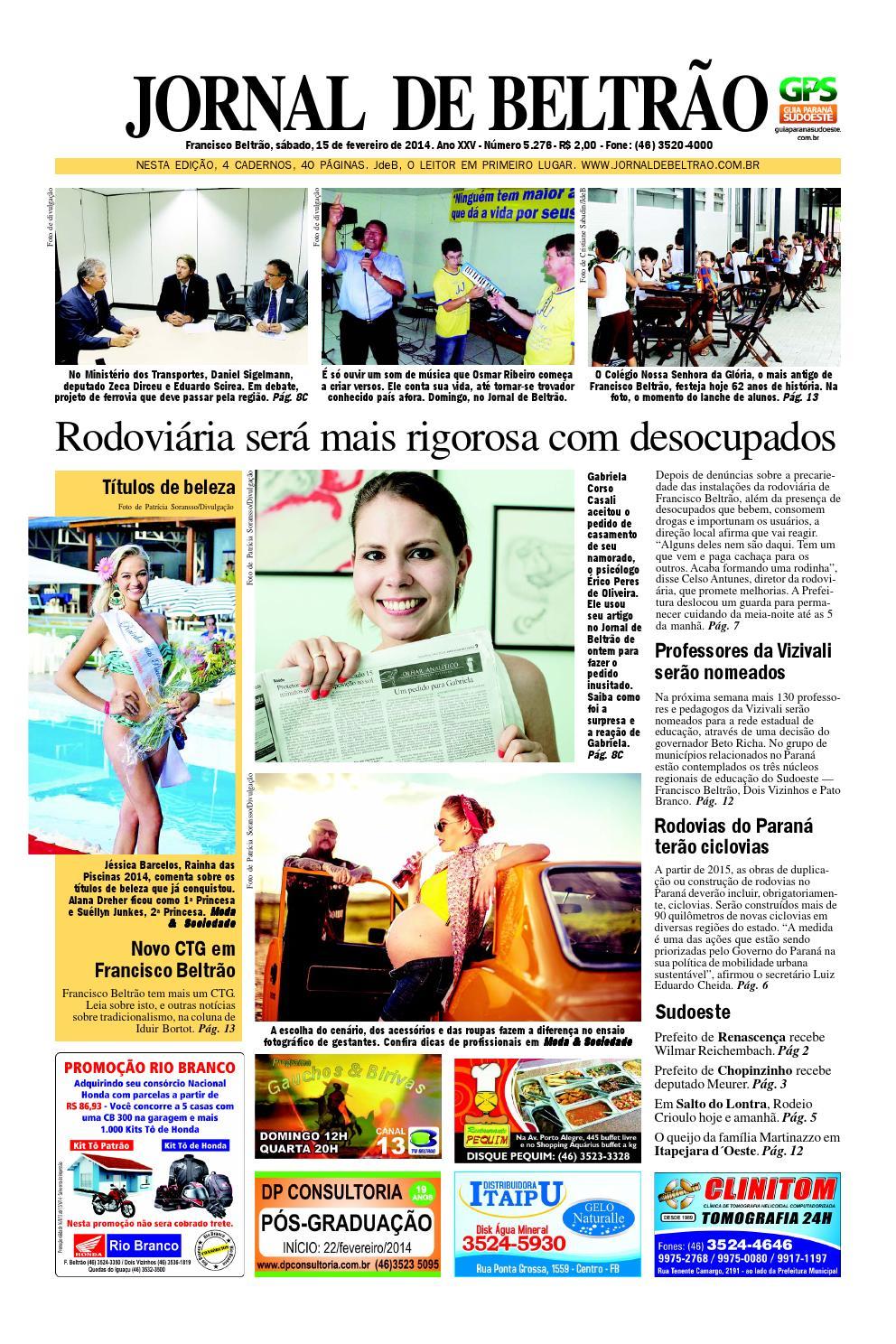 a2b3216b8 Jornaldebeltrão 5276 2014 02 15 by Orangotoe - issuu