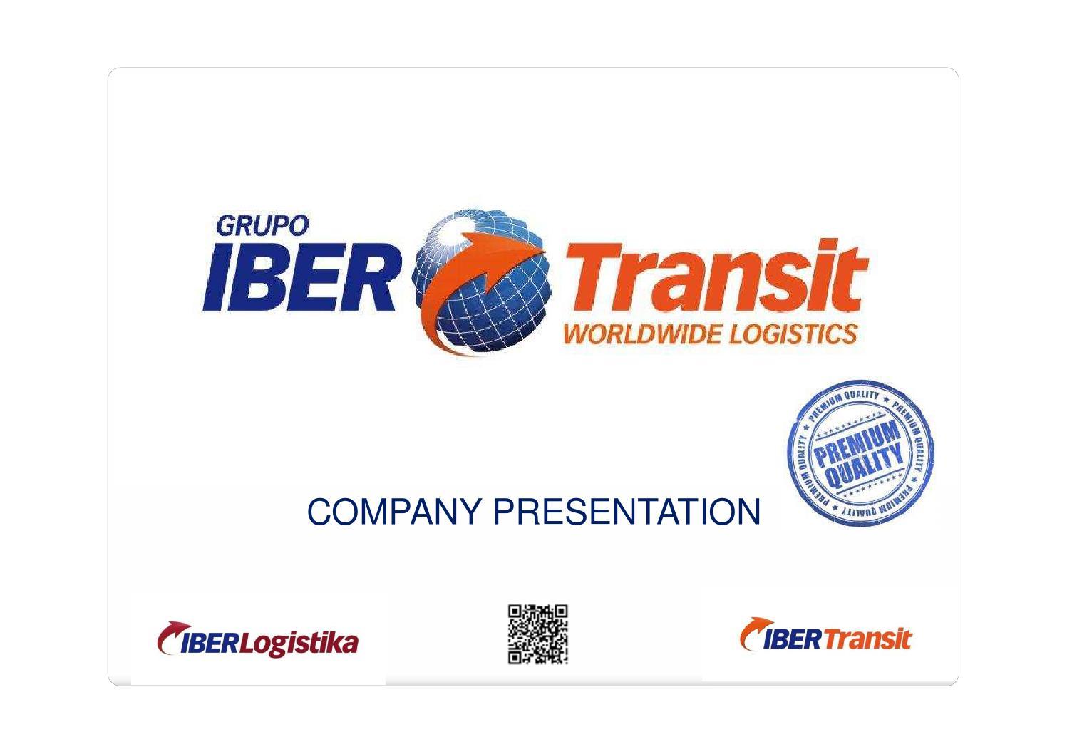 IBERTRANSIT GROUP - Company presentation 2014 by Xavier