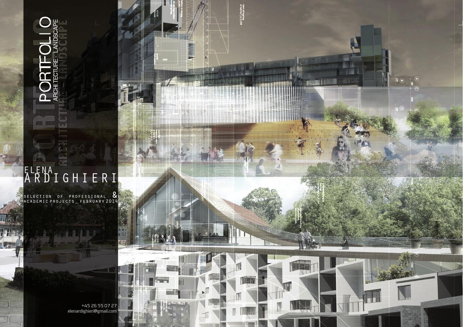 Portfolio 2014 architecture landscape by elena for Architecture student