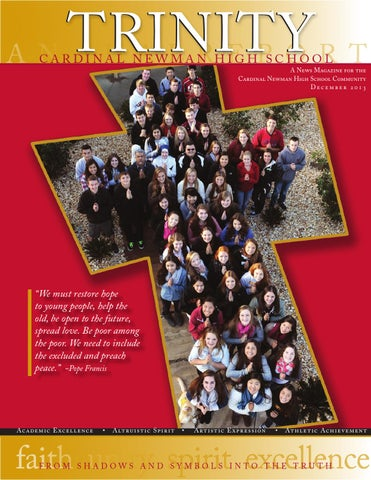 Cardinal Newman Trinity Magazine December 2013 By Design Girl