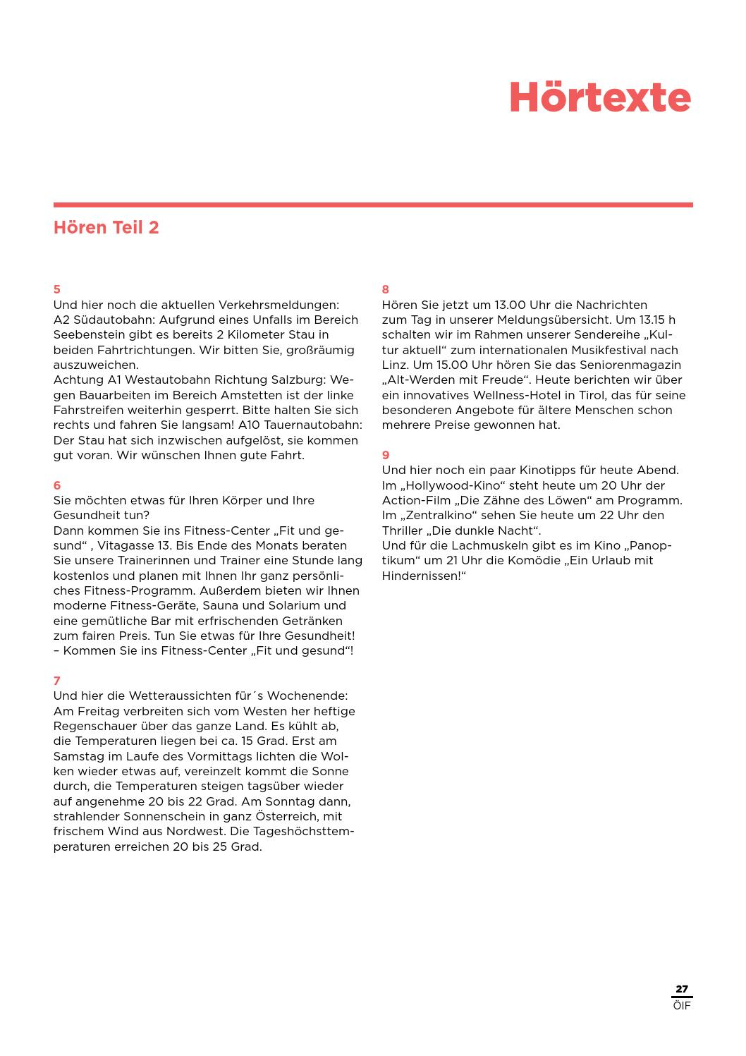 Dtoe übungstest 1 By österreichischer Integrationsfonds Issuu