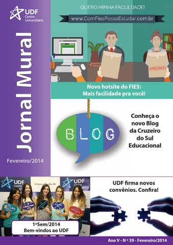Jornal mural Fevereiro 2014 by UDF Centro Universitário - issuu 0c216c67805b2