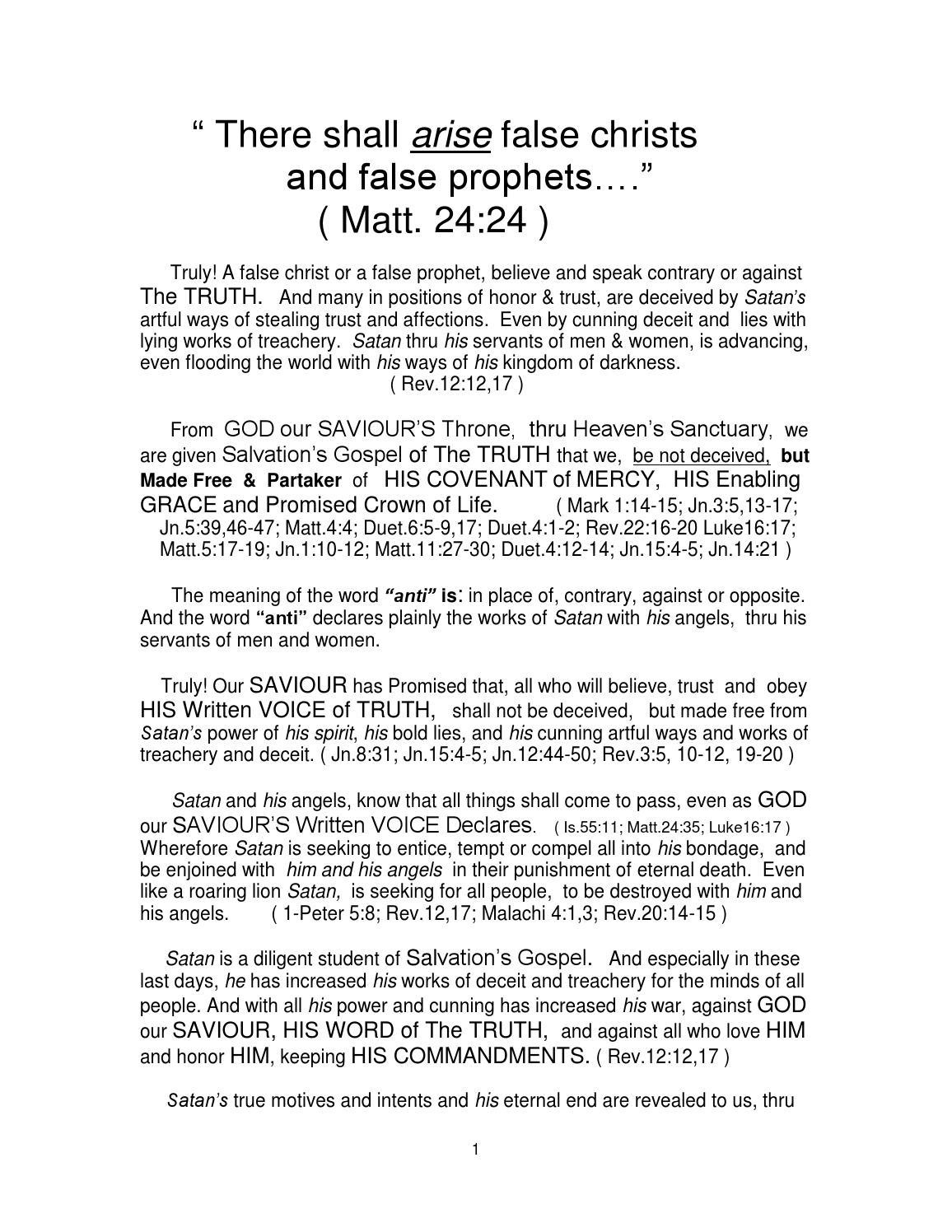 False christs & false prophets searchable 1 by Voice Of