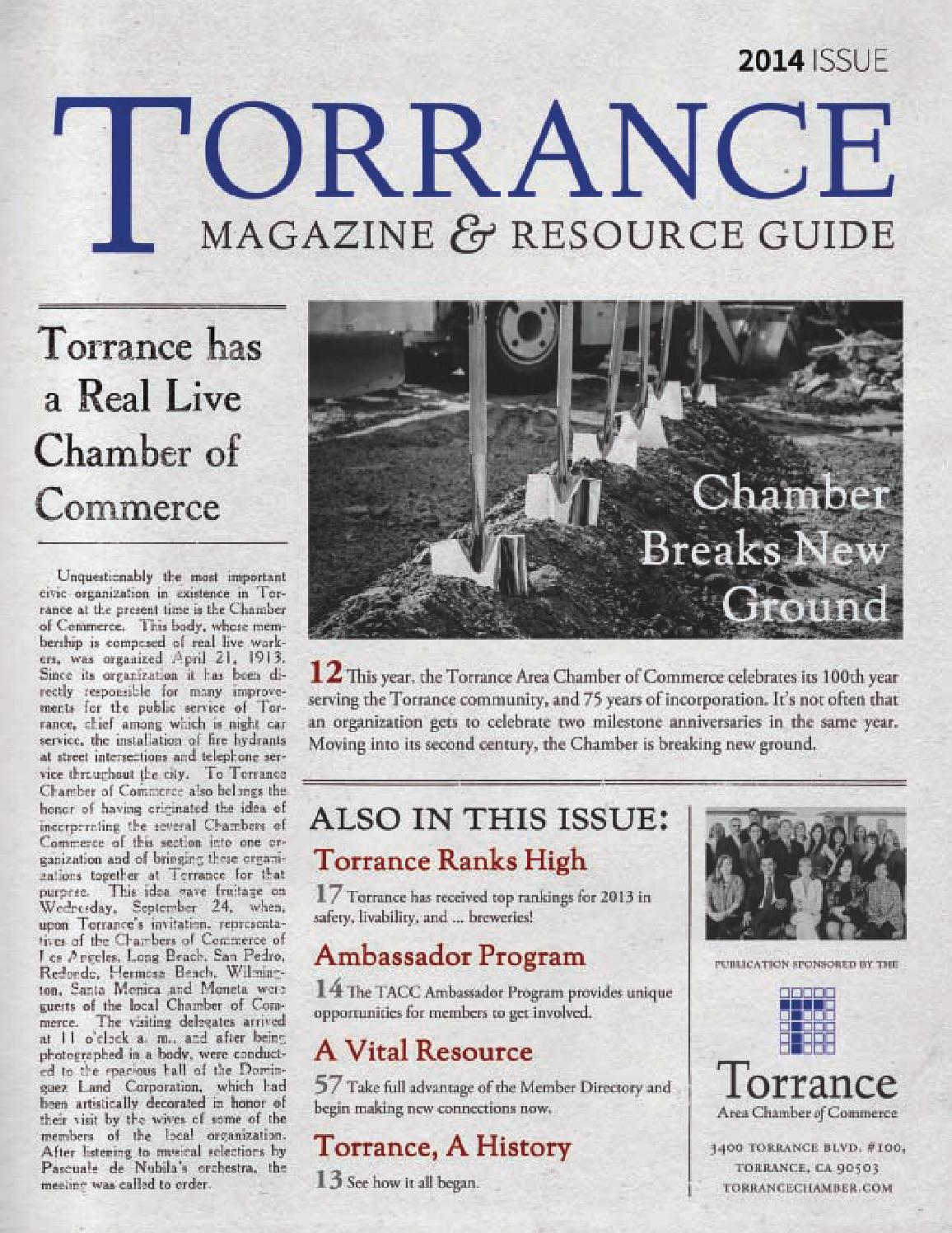 2014 Torrance Magazine & Resource Guide by Torrance Area