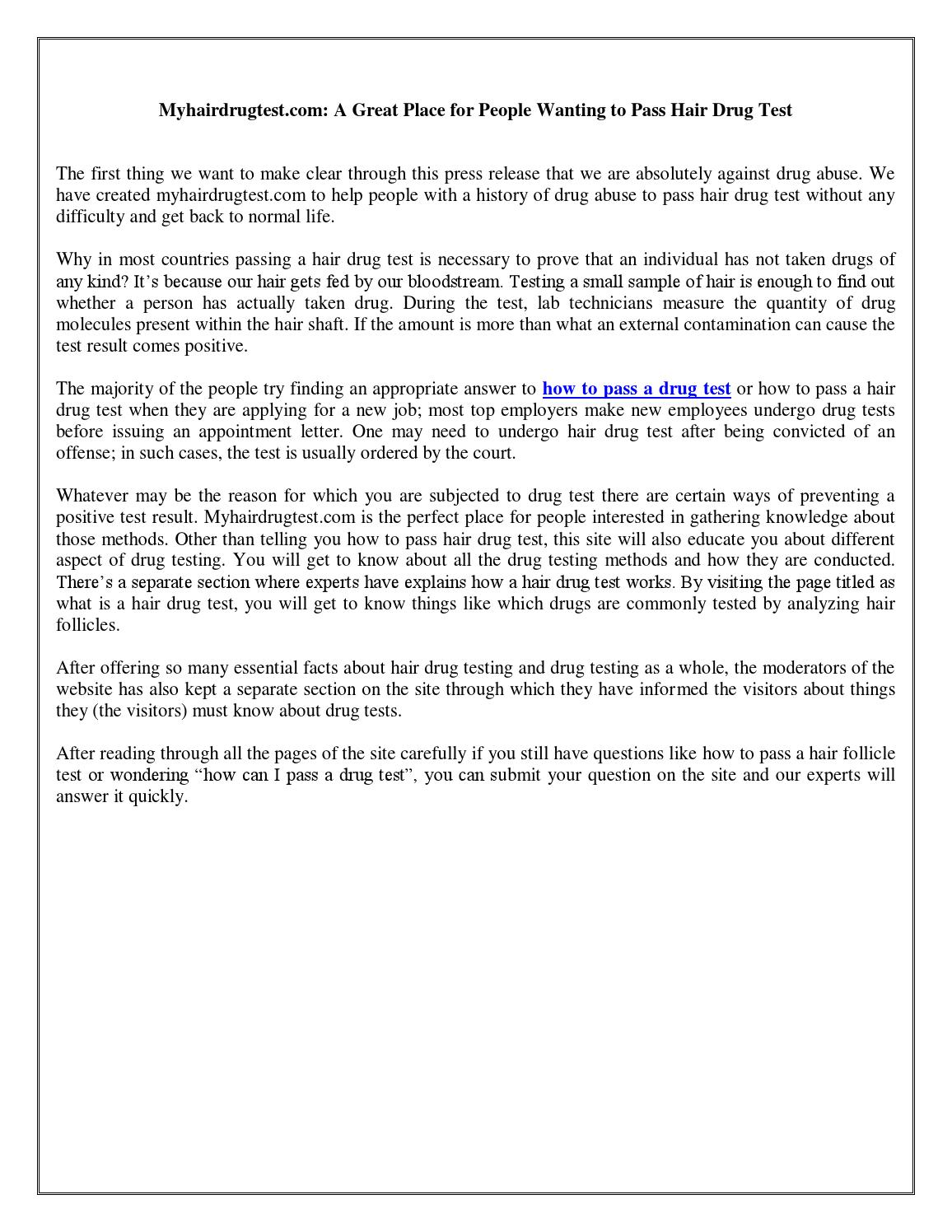 how to pass a hair follicle test by bakeredwards871 - issuu