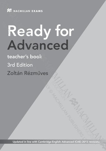 Ready for advanced tb units 1 2 by Macmillan Polska Sp  z o o  - issuu