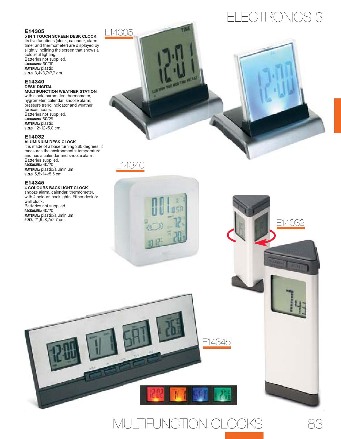 Catalogue Promo Business 2014 By Clever Mind Media Issuu Digital Multifunction Thermometer And Hygrometer With Clock Alarm