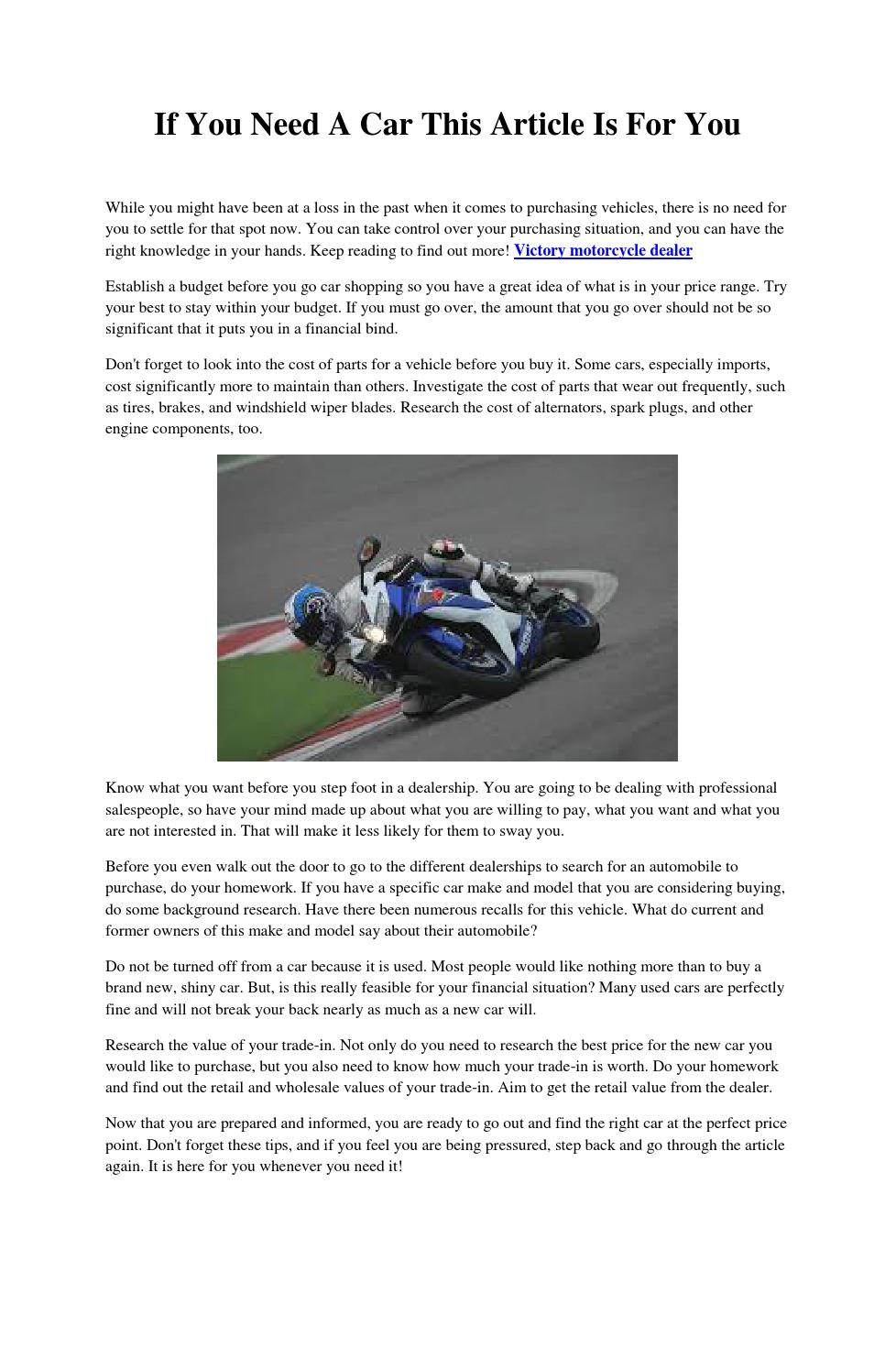 If You Need A Car This Article Is For By Leeromero67 Issuu Find Out What Type Of Brakes Your Has And How To Maintain Them