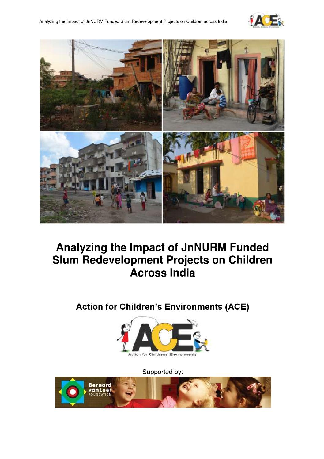Analyzing The Impact Of Jnnurm Funded Slum Redevelopment On Children Biogas Plant Or Gobar Gasplant Diagram Urdu Download Across India Ace 2013 By Bernard Van Leer Foundation Issuu