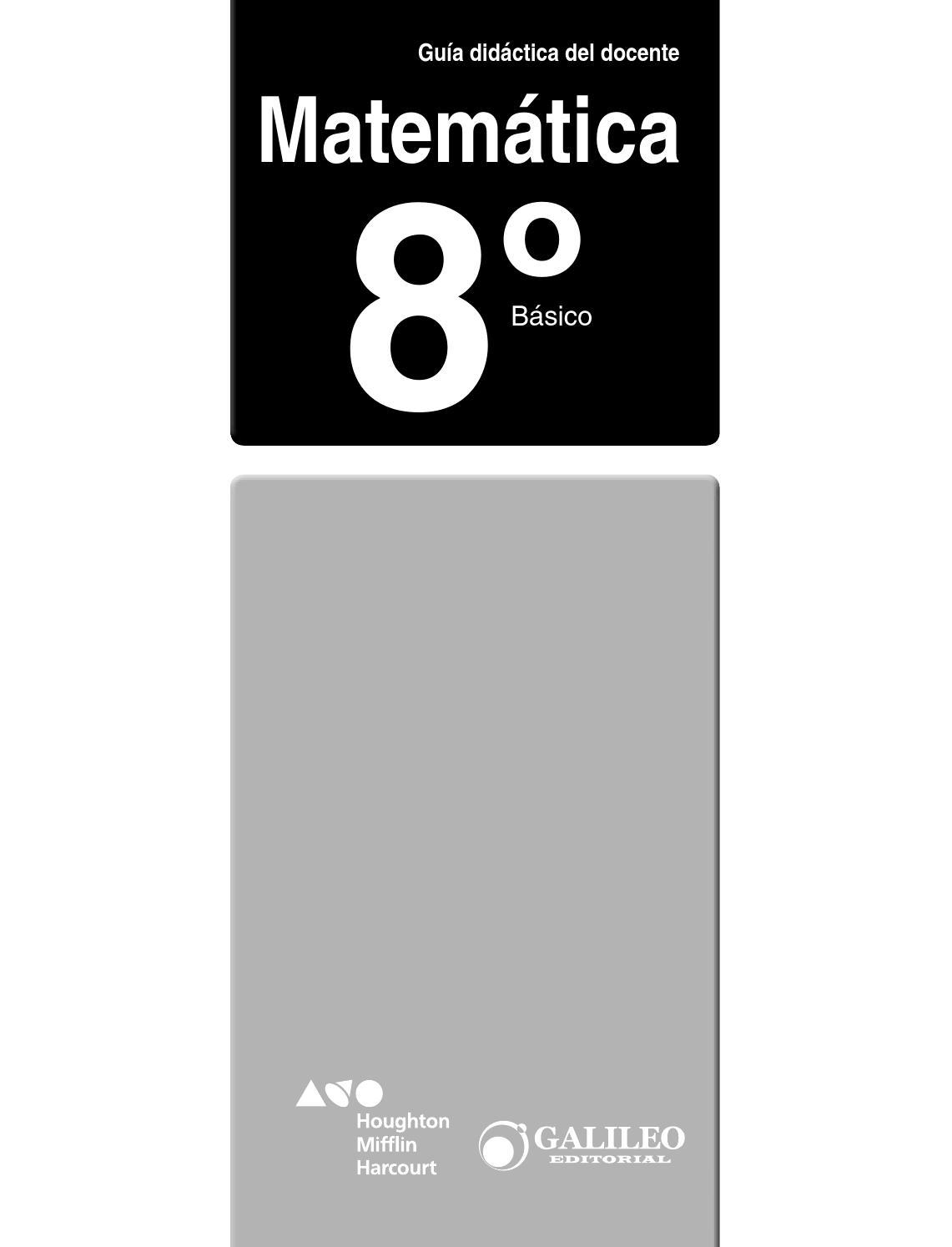 Mate 8º docente by soledad carrasco - issuu