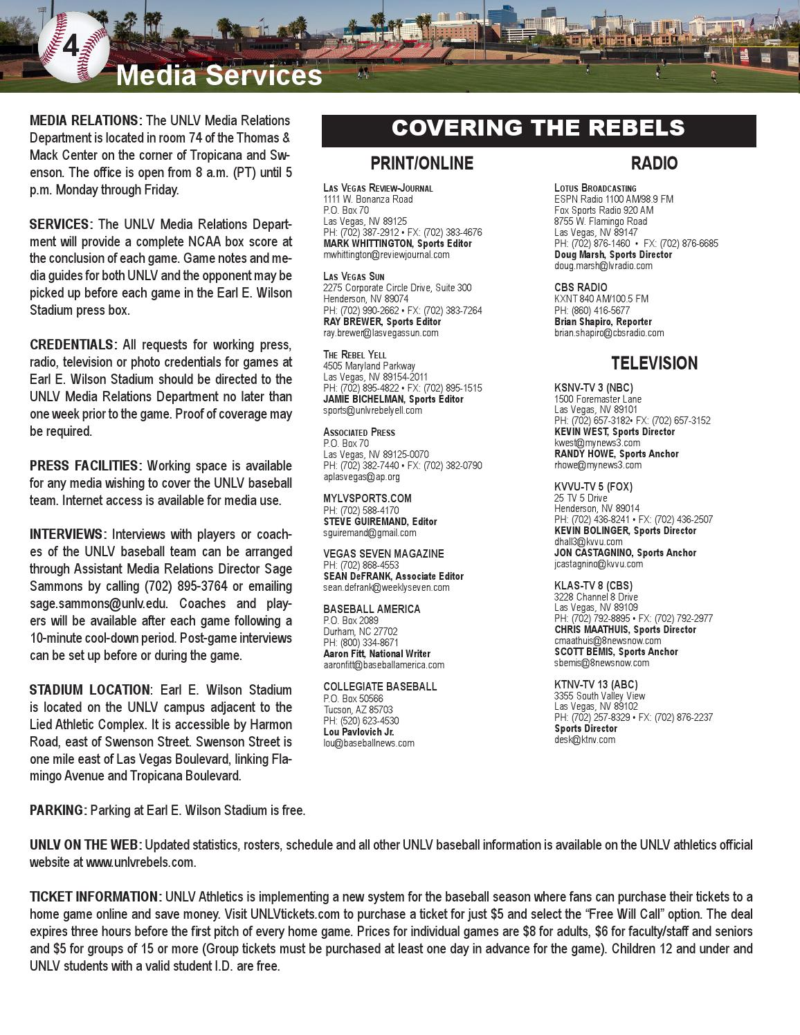 2014 UNLV Baseball Guide by UNLV Sports Information - issuu