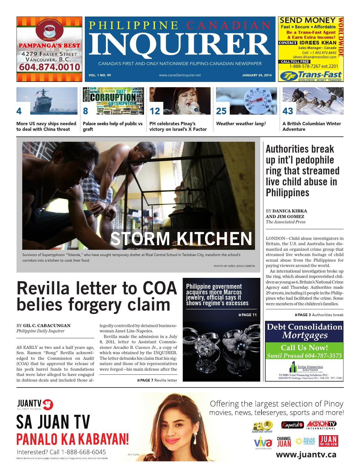 c661bd2b001cd Philippine Canadian Inquirer Issue  99 by Philippine Canadian Inquirer -  issuu