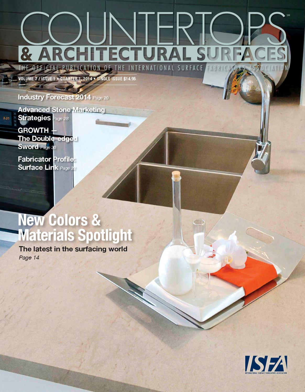 ISFA's Countertops & Architectural Surfaces Vol  7, Issue 1 - Q1