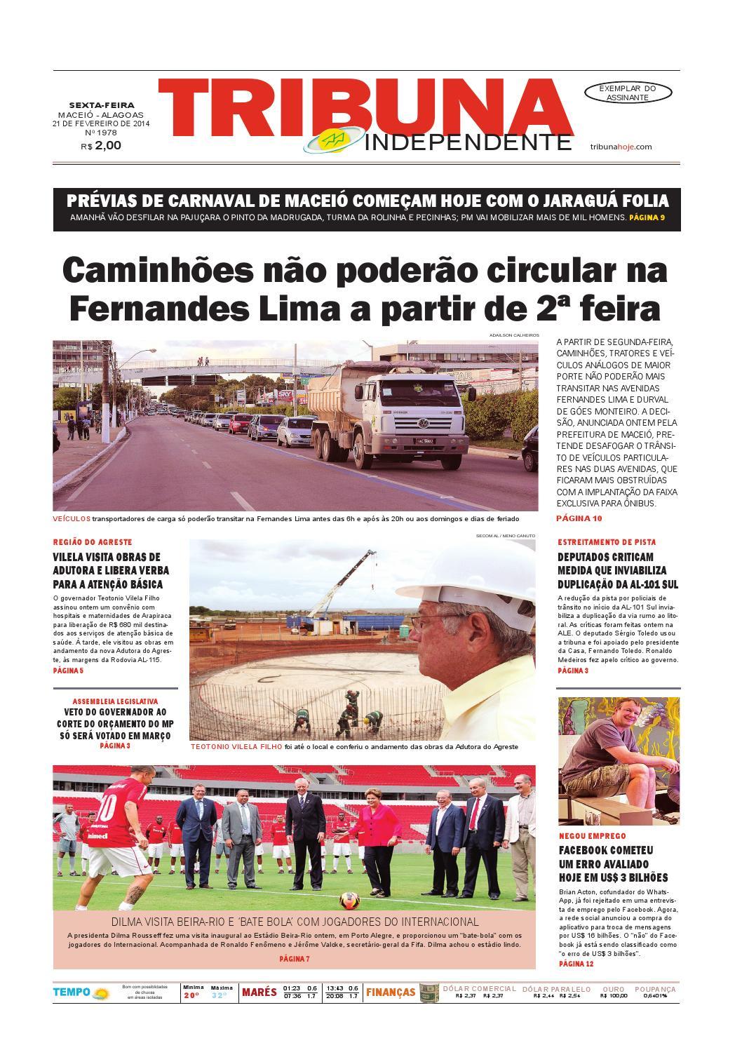 39e6bab17c Edição número 1978 - 21 de fevereiro de 2014 by Tribuna Hoje - issuu