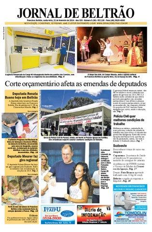 b6a95e5cda1e3 JORNAL DE BELTRÃO Francisco Beltrão, sexta-feira, 21 de fevereiro de 2014 -  Ano XXV - Número 5.281- R  2,00 - Fone (46) 3520-4000 Foto de Alex Trombetta