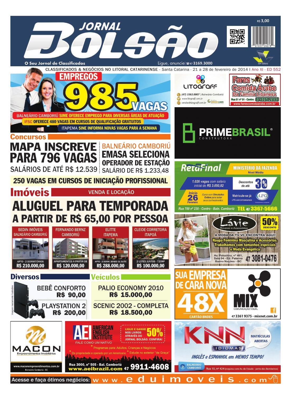 9bbfa0ac28 552 by Bolsão Jornal - issuu