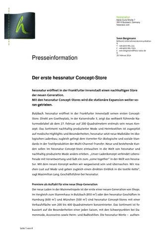 99b3210083c9ed Der erste hessnatur Concept-Store by Pressedienst PR-Gateway - issuu