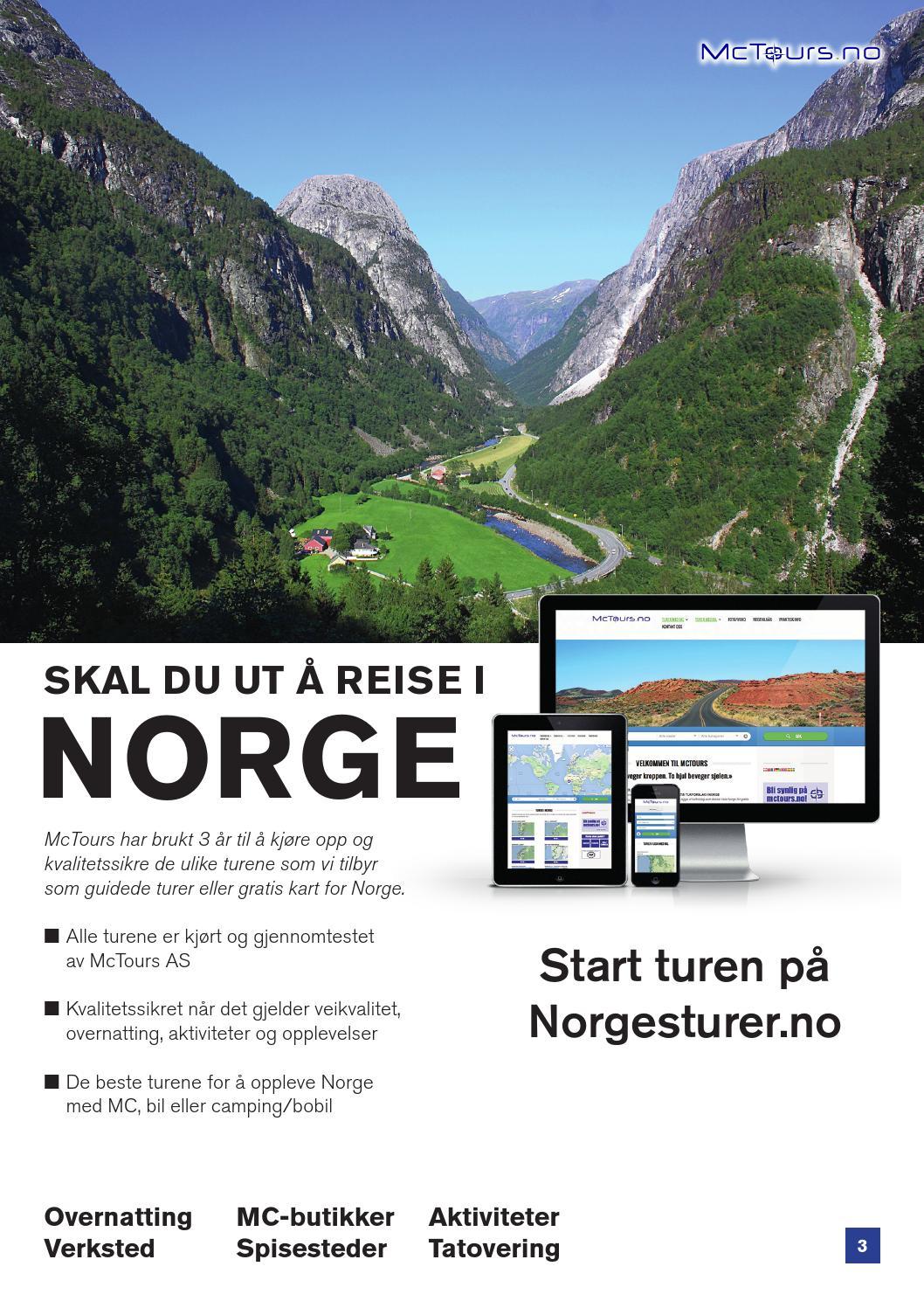 gratis kart norge Mc Tours Reiser by Stig Solberg   issuu gratis kart norge