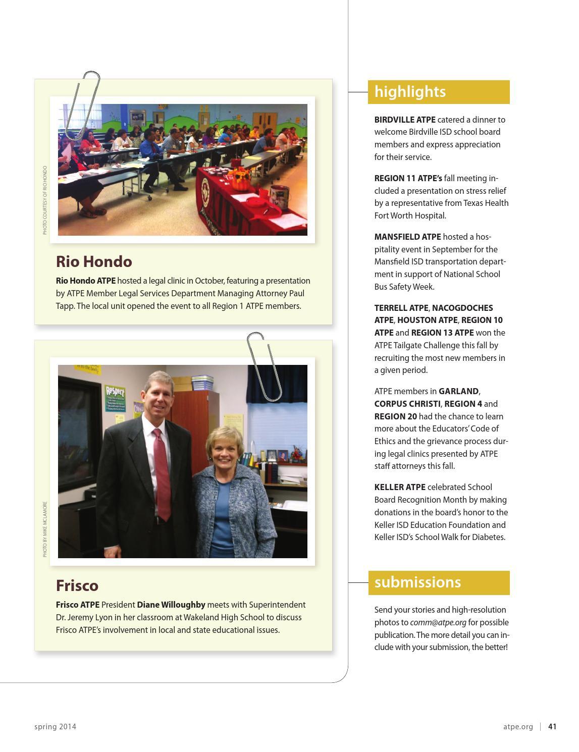 Spring 2014 Atpe News By Association Of Texas Professional Educators Issuu