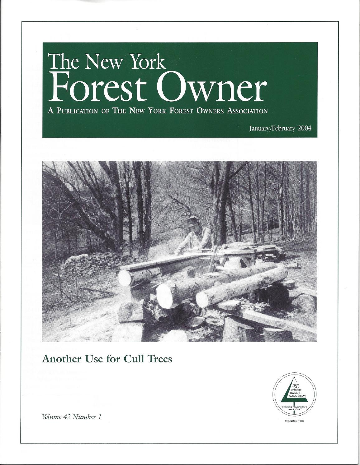 The New York Forest Owner - Volume 42 Number 1 by Jim Minor