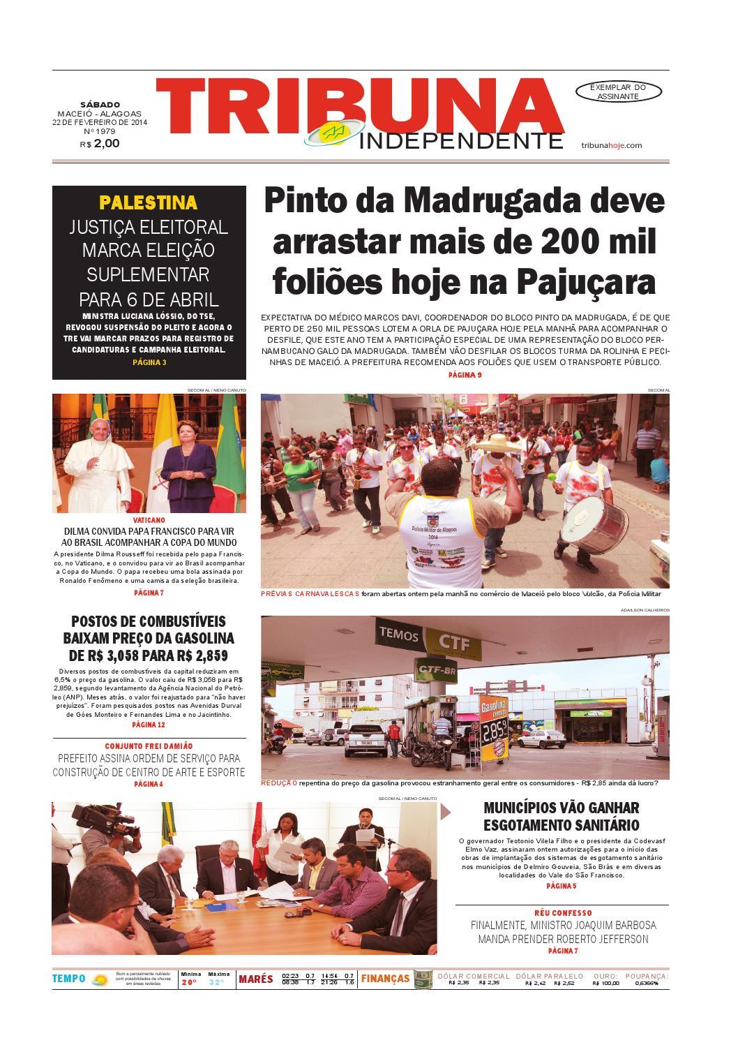 4a70cad30b91e Edição número 1979 - 22 de fevereiro de 2014 by Tribuna Hoje - issuu