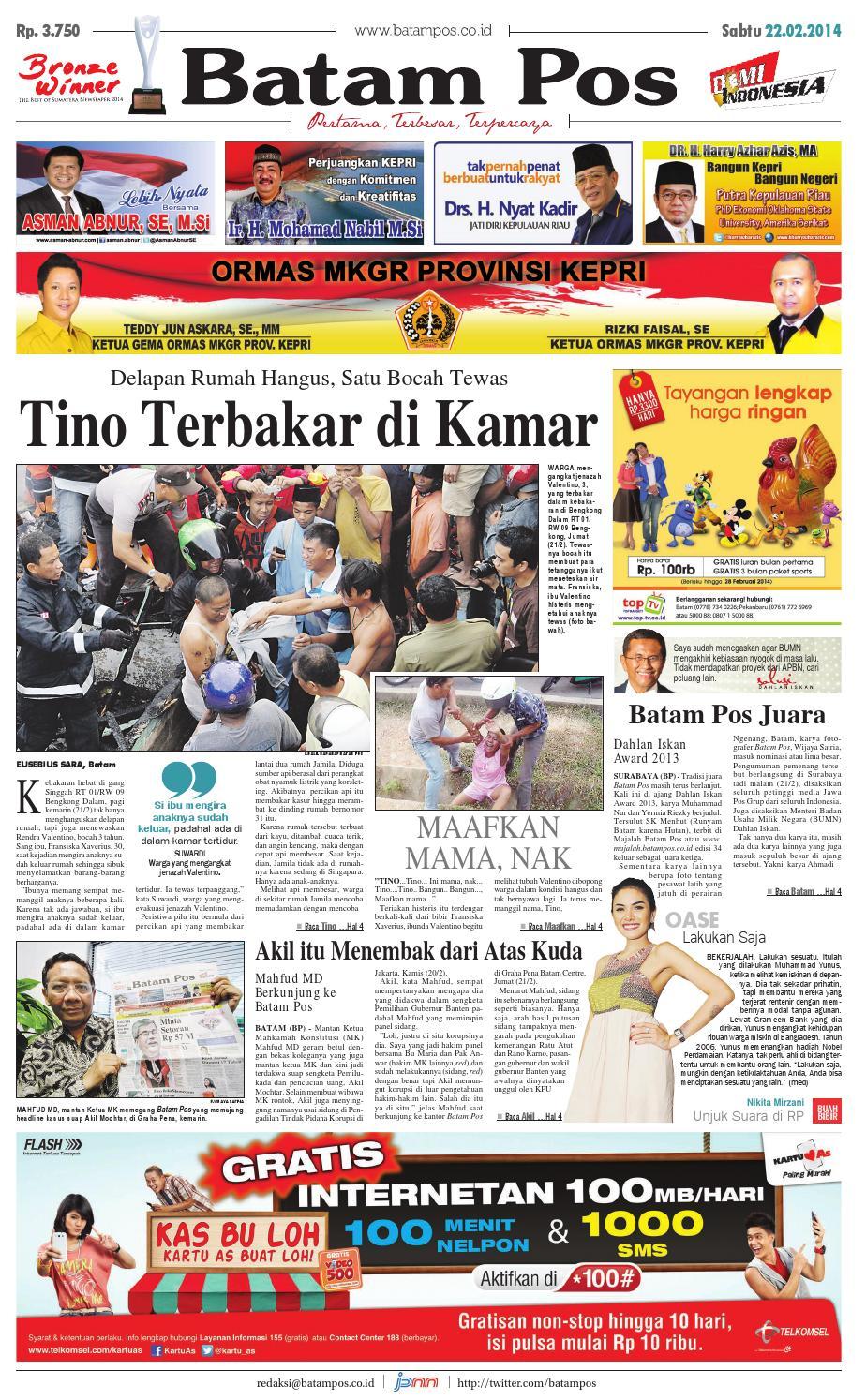 22 Februari 2014 By Batampos Newspaper Issuu Voucher Deposit Finza Cell 1jt