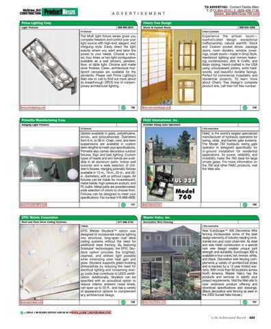 04 11 Architectural Record Nov04 By
